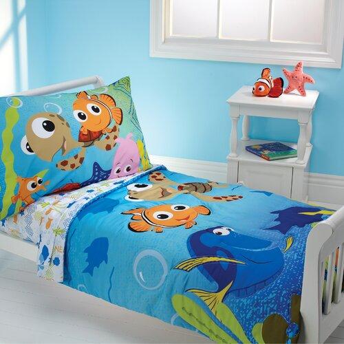 Disney Baby Nemo and Friends 4 Piece Toddler Bedding Set