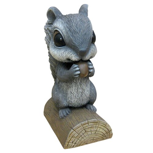 Squirrel on Log Garden Decor
