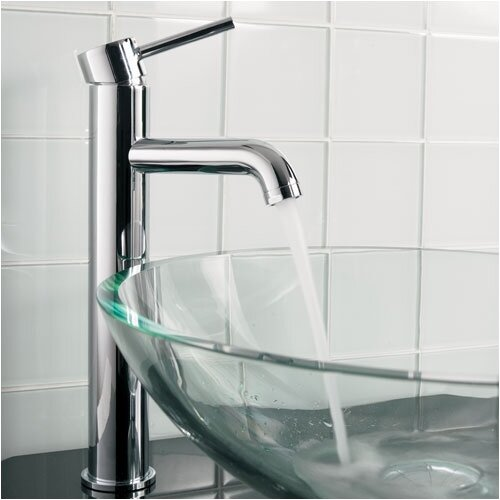Pegasus Tower Single Hole Vessel Faucet with Single Lever Handle