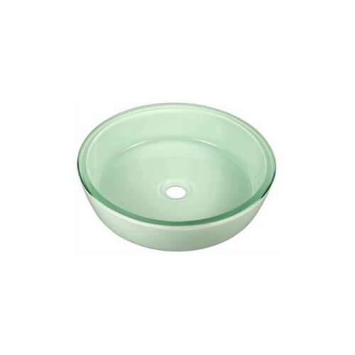 Pegaus Flat Bottom Fused Glass Vessel Bathroom Sink