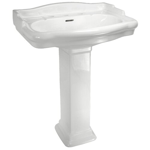 English Turn Pedestal Sink Set with Centers
