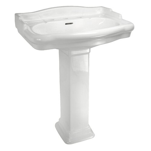 English Turn Pedestal Leg for Bathroom Sink (Leg Only)