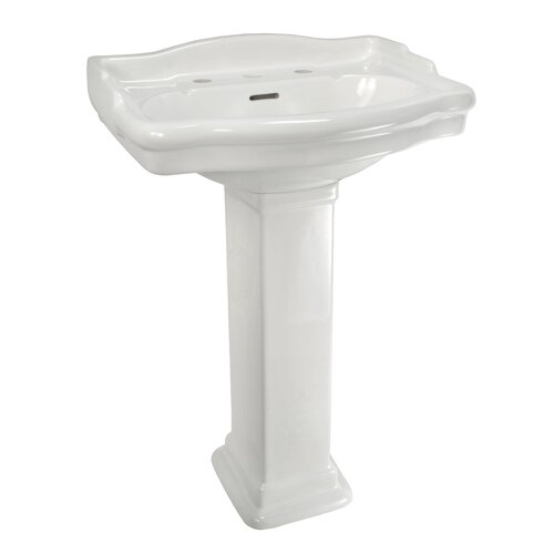 English Turn Petite Pedestal Sink Top with Centers (Bowl Only)