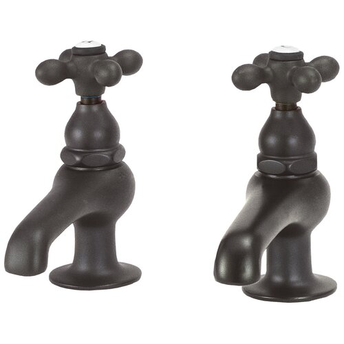 Elizabethan Classics Bathroom Faucet Set with Metal Cross Handles