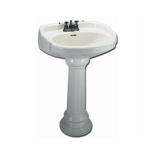 Elizabethan Classics Aberdeen Petite Pedestal Sink Top with Centers (Bowl Only)