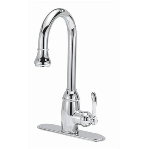 Single Handle Centerset Pull Down Kitchen Faucet with Optional Cover Plate