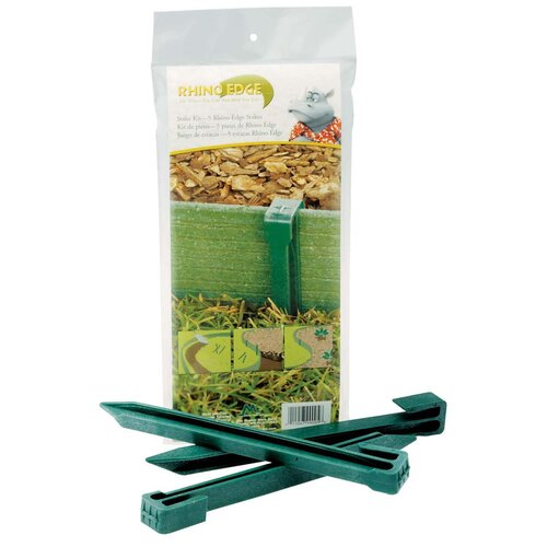 Master Mark Plastics Rhino Edge Stakes in Cedar and Green (Pack of 5)