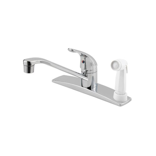 Pfirst Series One Handle Centerset Kitchen Faucet with Side Spray