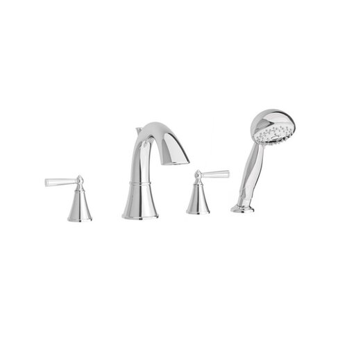 Price Pfister Saxton Double Handle Hand shower Roman Tub Faucet with Trim