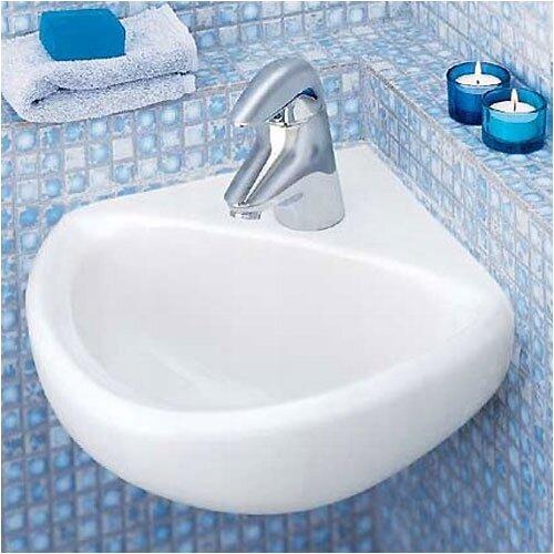 Corner Minette Wall Mount Bathroom Sink for Wall Hangers