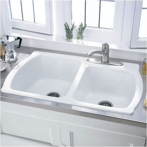 "American Standard Chandler 36"" x 22"" Americast Double Bowl Kitchen Sink"