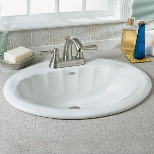 Seychelle Self-Rimming Countertop Bathroom Sink