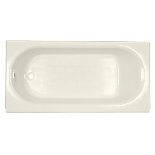 "American Standard Princeton 60"" x 34"" Above Floor Luxury Ledge Americast Recessed Bathtub"