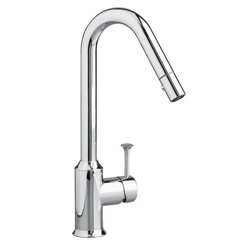 American Standard Pekoe Single Handle Single Hole Pull Down kitchenFaucet with Hi Flow Spout and Pull Out Spray
