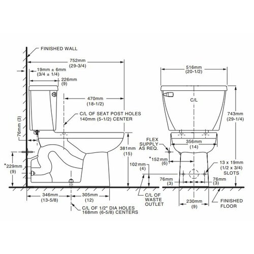 Standard Toilet Dimensions crowdbuild for