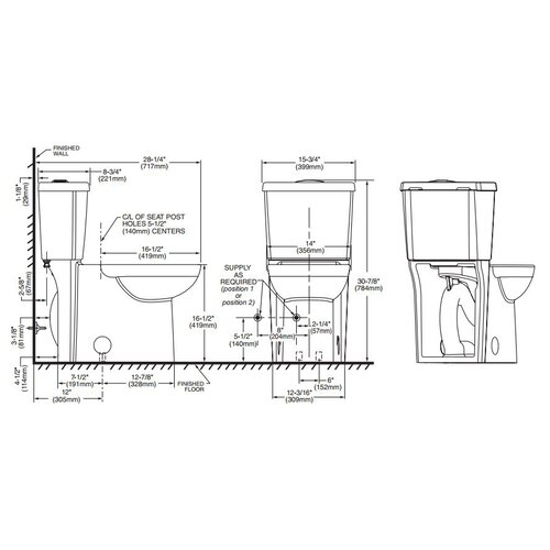 american standard studio concealed trapway dual flush right height 1 1 gpf    1 6 gpf round front