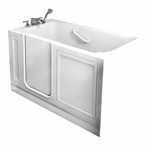 "American Standard Acrylic 51"" x 26"" Walk-In Combo Massage Tub with Drain"