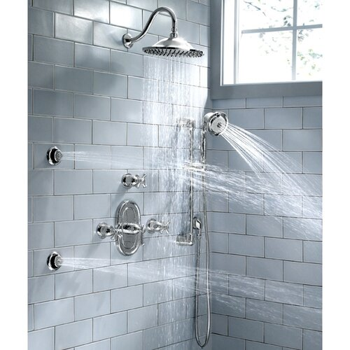 American Standard Portsmouth Diverter Shower Faucet Trim Kit with Metal Cross Handle