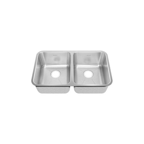 "American Standard 22.5"" x 21.5"" Undermount Double Bowl with Creased Bottom Kitchen Sink"