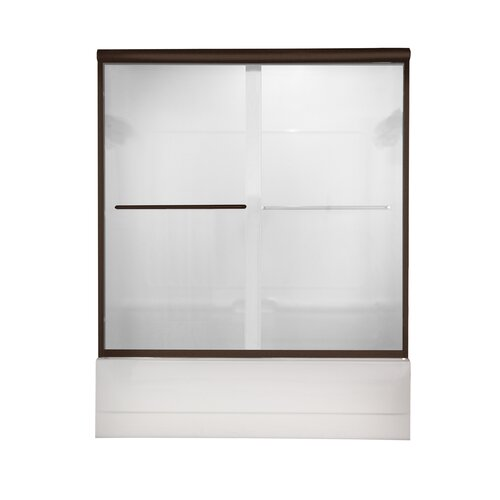American Standard Euro Frameless Bypass Tub Door with Clear Glass
