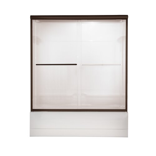 American Standard Euro Frameless Bypass Tub Door with Bistro Glass