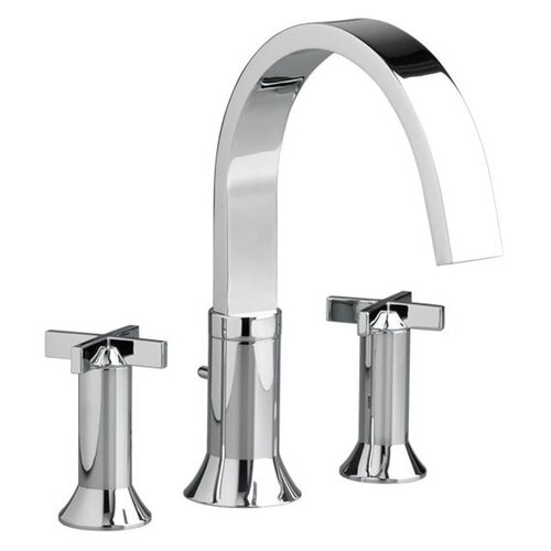 American Standard Berwick Double Handle Deck Mount Tub Only Faucet Cross Handle