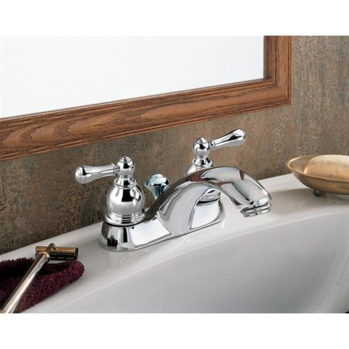 American Standard Hampton Centerset Bathroom Faucet with Double Metal Lever Handles