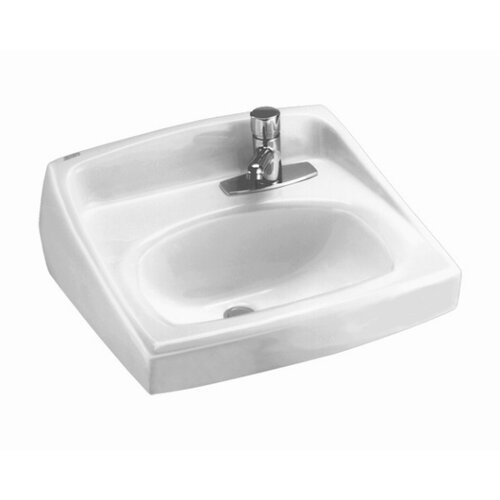 Lucerne Wall Mounted Bathroom Sink with Single Faucet Hole