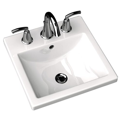 American Standard Studio Carre Countertop Bathroom Sink with Center Hole