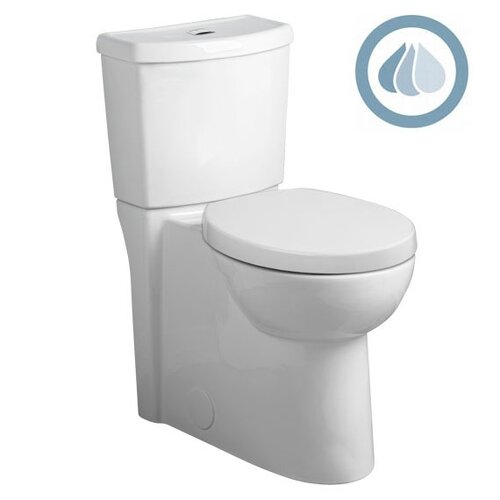 American Standard Studio Concealed Trapway Dual Flush Right Height 1.1 GPF / 1.6 GPF Elongated 2 Piece Toilet
