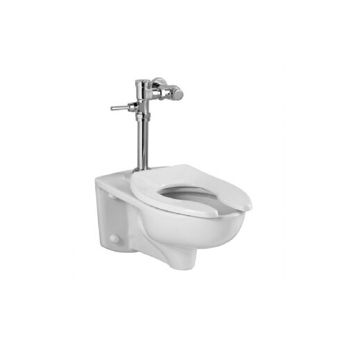 Afwall Commercial 1.28 GPF Elongated Manual Flush Valve 1 Piece Toilet