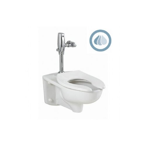 Afwall EverClean 1.1 GPF Elongated Select Flush Valve 1 Piece Toilet