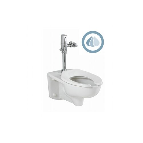 American Standard Afwall EverClean 1.1 GPF / 1.6 GPF Elongated 1 Piece Toilet with Selectronic Dual Flush Flush Valve