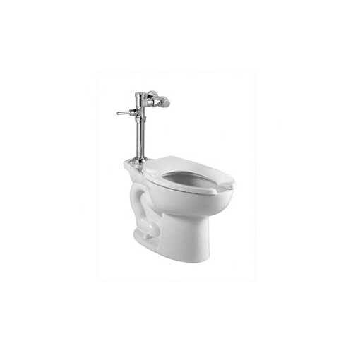Manual Top Spud Flush Valve Elongated 1 Piece Toilet