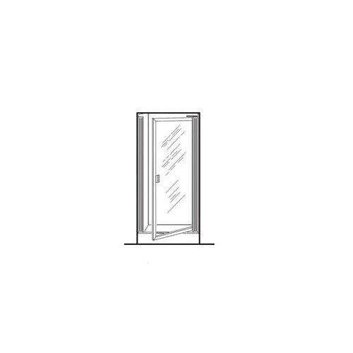 """American Standard Prestige 63.5"""" H Framed Pivot Shower Door with Hammered Glass"""