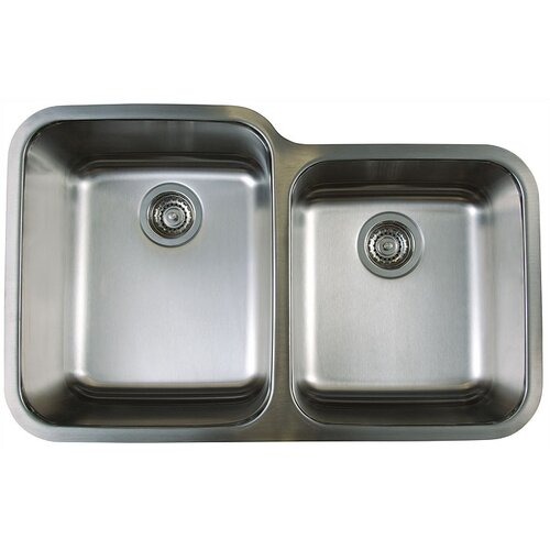 "Blanco Stellar 32.33"" x 20.5"" Double Bowl Undermount Kitchen Sink"
