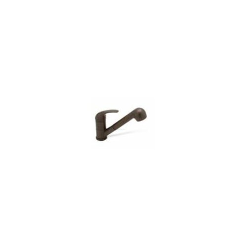 Torino Single Handle Single Hole Jr. Classic Kitchen Faucet with Pullout Spray in Cafe Brown ...