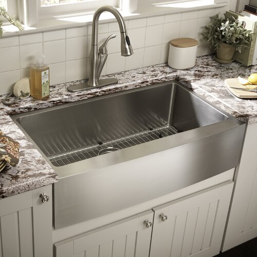 "Schon 36"" x 22.25"" Single Bowl Farmhouse Kitchen Sink"