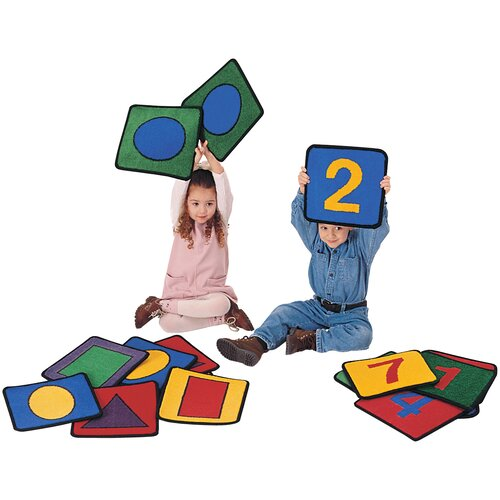 Carpets for Kids Carpet Kits Shape / Number Block Kids Rugs