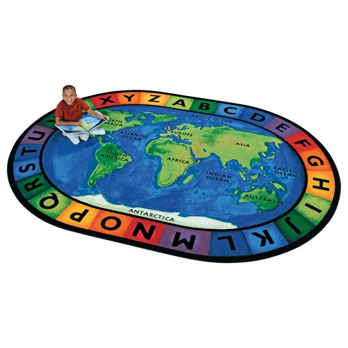 Carpets for Kids Printed Circletime Around the World Area Rug