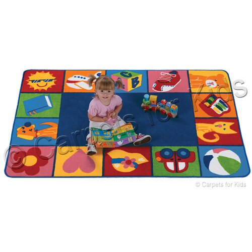 Carpets for Kids Printed Toddler Blocks Kids Rug