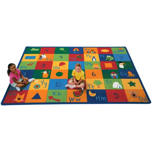 Educational Rugs Cheap: Carpets For Kids Printed Learning Blocks Area Rug