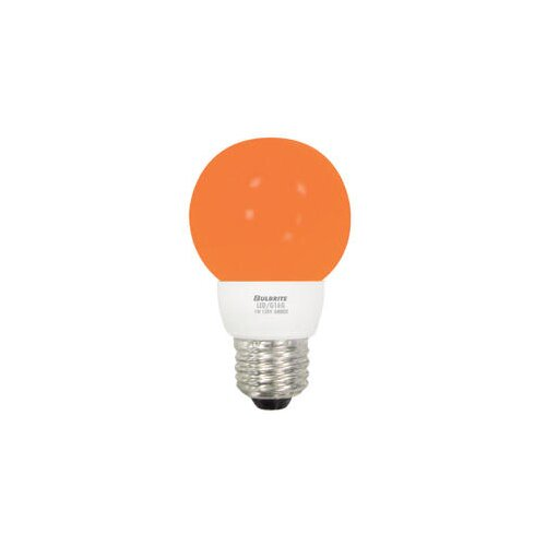 Bulbrite Industries 1W Amber 120-Volt LED Light Bulb