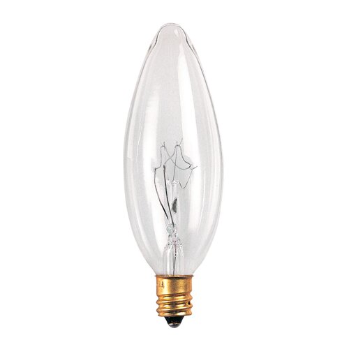Bulbrite Industries Candelabra 220-Volt (2700K) Incandescent Light Bulb