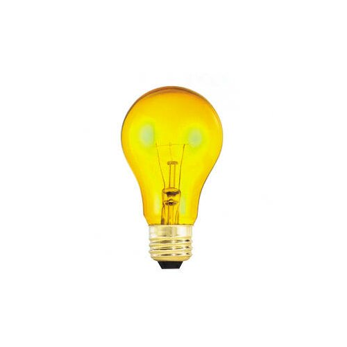 Bulbrite Industries 25W Yellow 120-Volt Incandescent Light Bulb