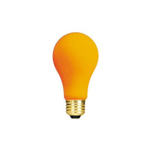 Bulbrite Industries Orange 120-Volt Incandescent Light Bulb