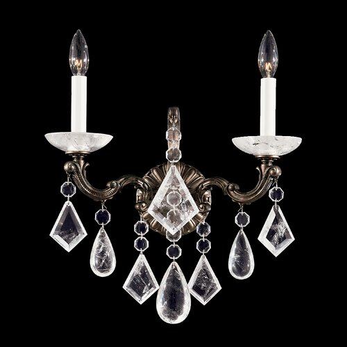 Schonbek La Scala Rock Crystal Two Light Wall Sconce