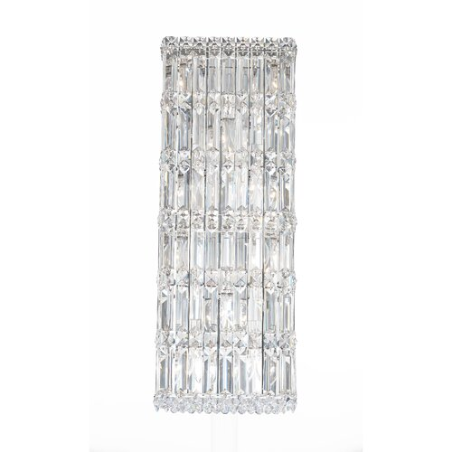Schonbek Quantum Ten Light Wall Sconce in Polished Silver