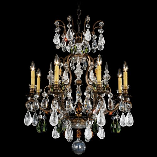 Schonbek Renaissance Rock Crystal 8 Light Chandelier