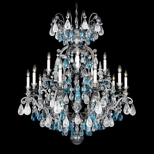 Renaissance Rock Crystal 15 Light Chandelier